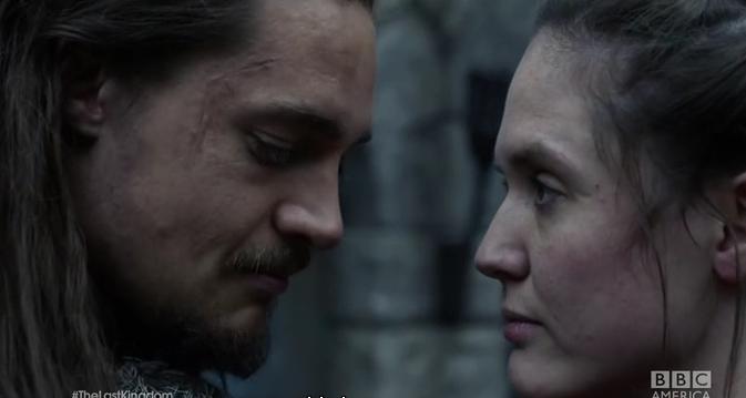 BBC The Last Kingdom Uhtred and Brida