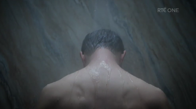 the fall jamie dornan shower